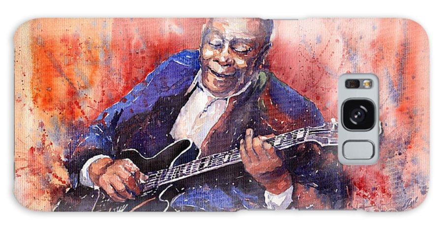 Jazz Galaxy S8 Case featuring the painting Jazz B B King 06 A by Yuriy Shevchuk