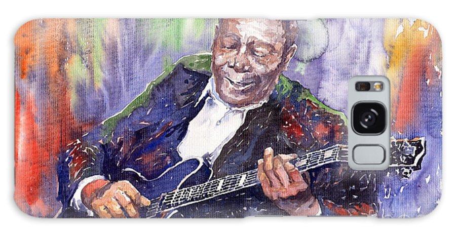 Jazz Galaxy Case featuring the painting Jazz B B King 06 by Yuriy Shevchuk