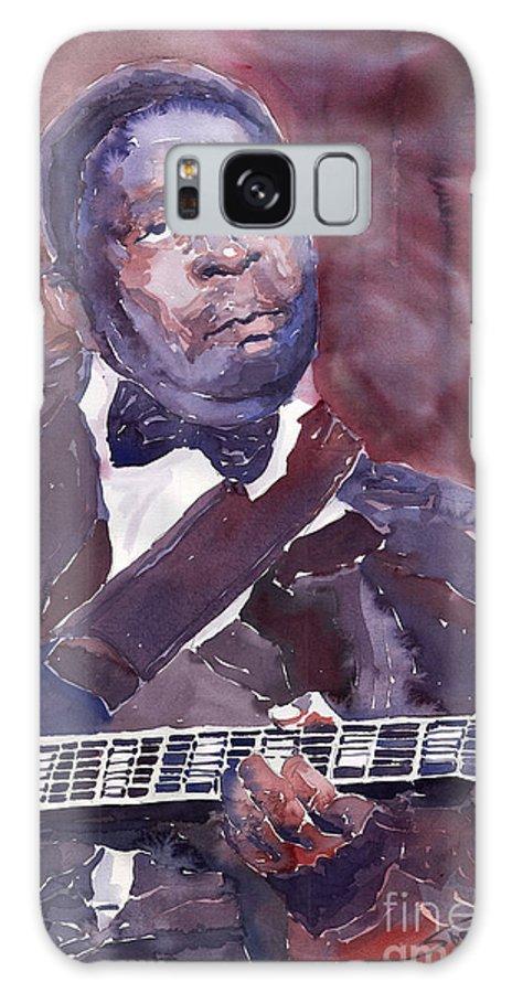 Jazz Bbking Guitarist Blues Portret Figurative Music Galaxy Case featuring the painting Jazz B B King by Yuriy Shevchuk