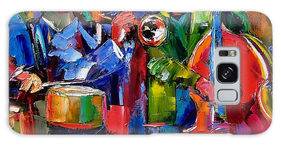 Jazz Galaxy Case featuring the painting Jazz Beat by Debra Hurd