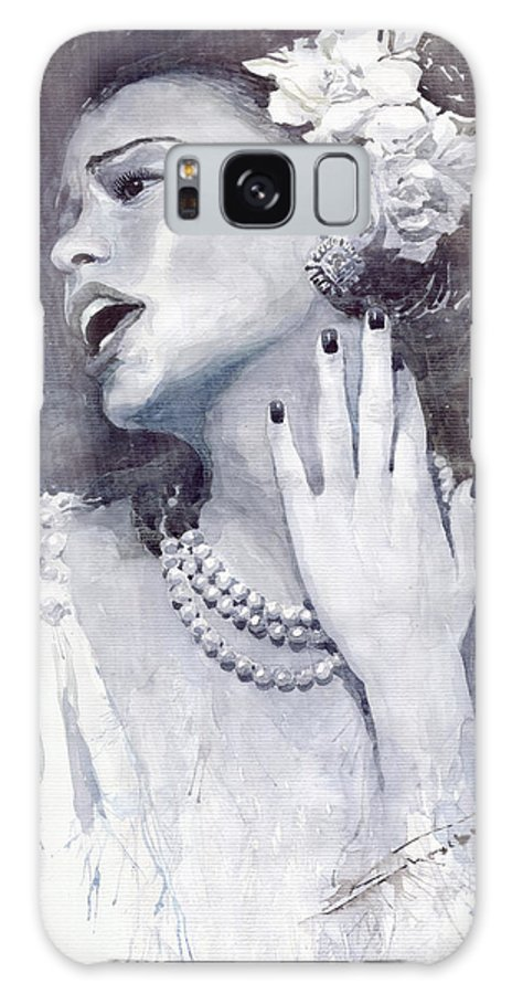 Billie Holiday Galaxy S8 Case featuring the painting Jazz Billie Holiday by Yuriy Shevchuk
