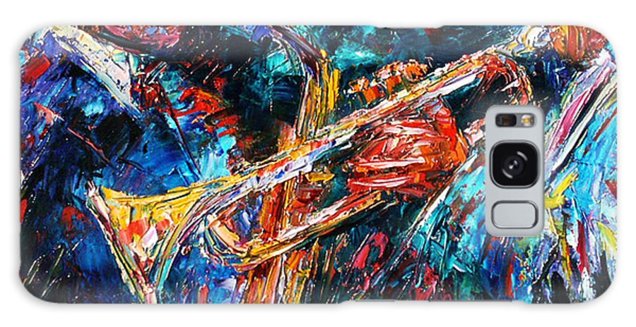 Jazz Galaxy S8 Case featuring the painting Jazz Brothers by Debra Hurd