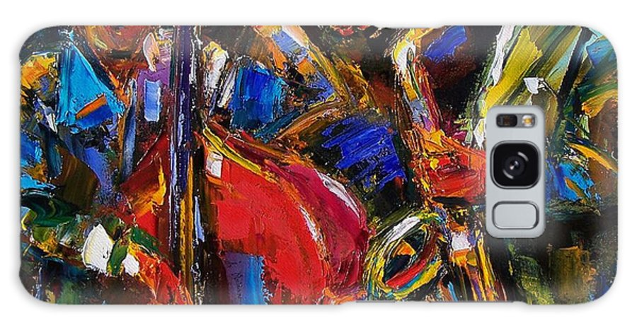 Jazz Galaxy S8 Case featuring the painting Jazz by Debra Hurd
