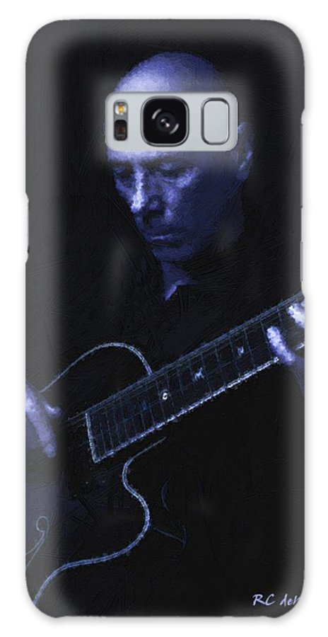 Portrait Galaxy S8 Case featuring the painting Jazz In Blue by RC DeWinter