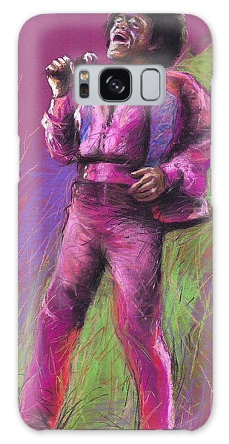 Jazz Galaxy Case featuring the painting Jazz James Brown by Yuriy Shevchuk