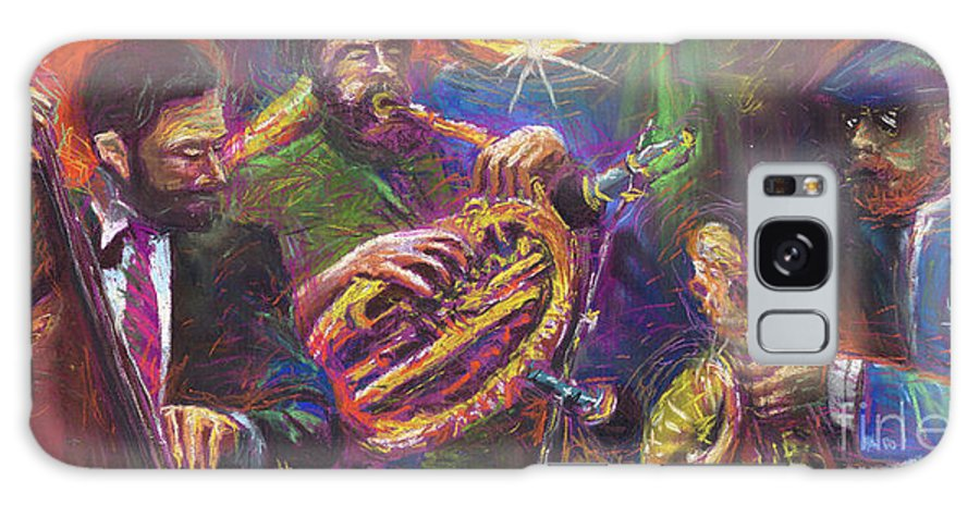 Jazz Galaxy Case featuring the painting Jazz Jazzband Trio by Yuriy Shevchuk