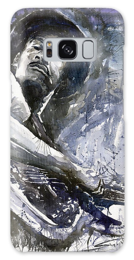 Jazz Galaxy S8 Case featuring the painting Jazz Marcus Miller 01 by Yuriy Shevchuk