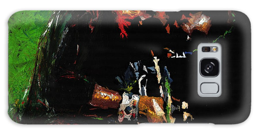 Jazz Galaxy S8 Case featuring the painting Jazz Miles Davis 1 by Yuriy Shevchuk
