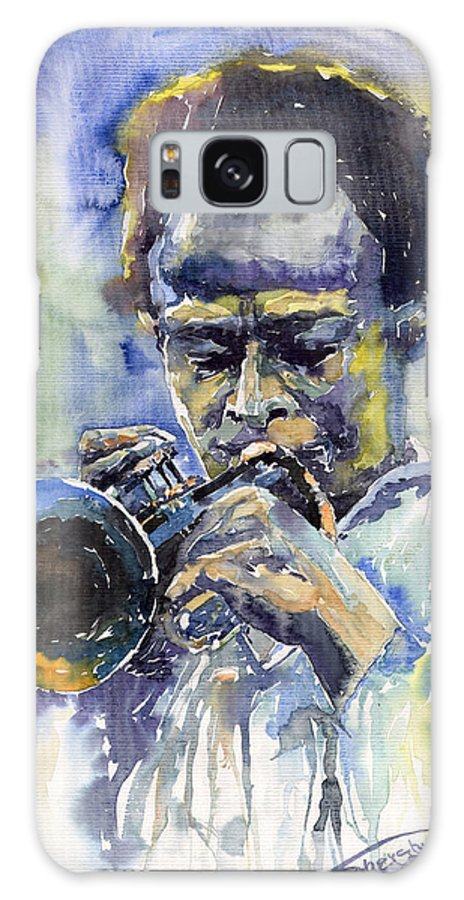 Jazz Galaxy S8 Case featuring the painting Jazz Miles Davis 12 by Yuriy Shevchuk