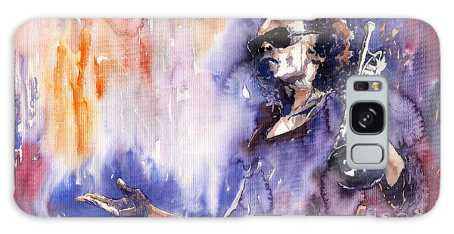 Jazz Galaxy Case featuring the painting Jazz Miles Davis 14 by Yuriy Shevchuk