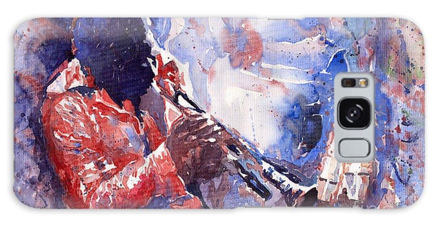 Jazz Galaxy Case featuring the painting Jazz Miles Davis 15 by Yuriy Shevchuk