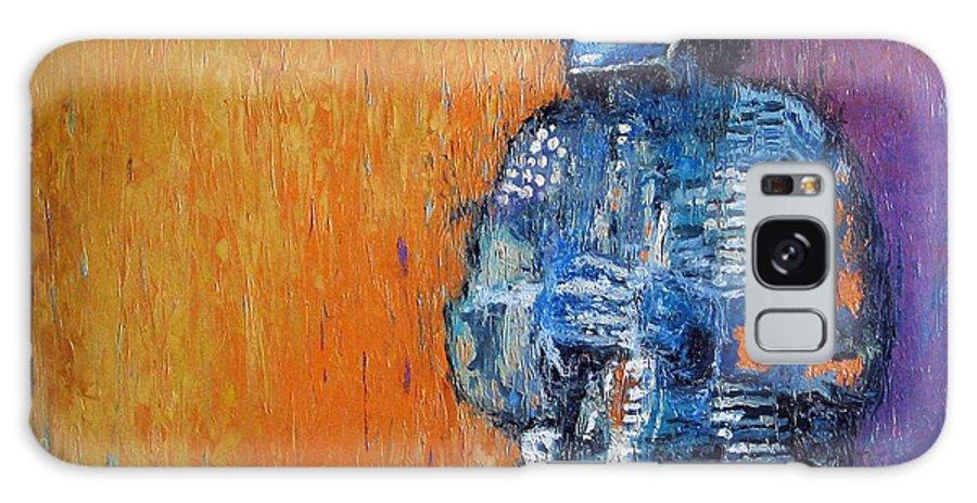 Jazz Galaxy S8 Case featuring the painting Jazz Miles Davis 2 by Yuriy Shevchuk