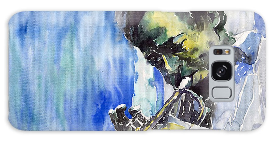 Galaxy S8 Case featuring the painting Jazz Miles Davis 5 by Yuriy Shevchuk