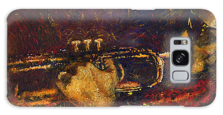 Jazz Galaxy Case featuring the painting Jazz Miles Davis by Yuriy Shevchuk