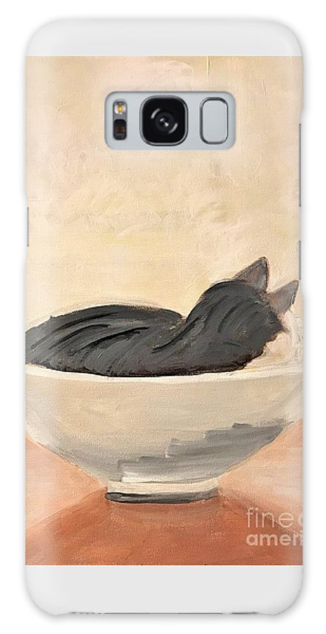 Cat Galaxy S8 Case featuring the painting Jazz Nap by Kate Speer Ely