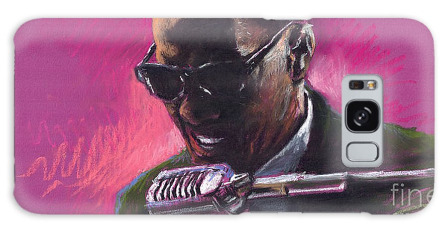 Jazz Galaxy S8 Case featuring the painting Jazz. Ray Charles.1. by Yuriy Shevchuk
