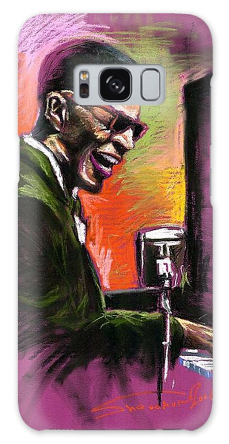 Galaxy S8 Case featuring the painting Jazz. Ray Charles.2. by Yuriy Shevchuk