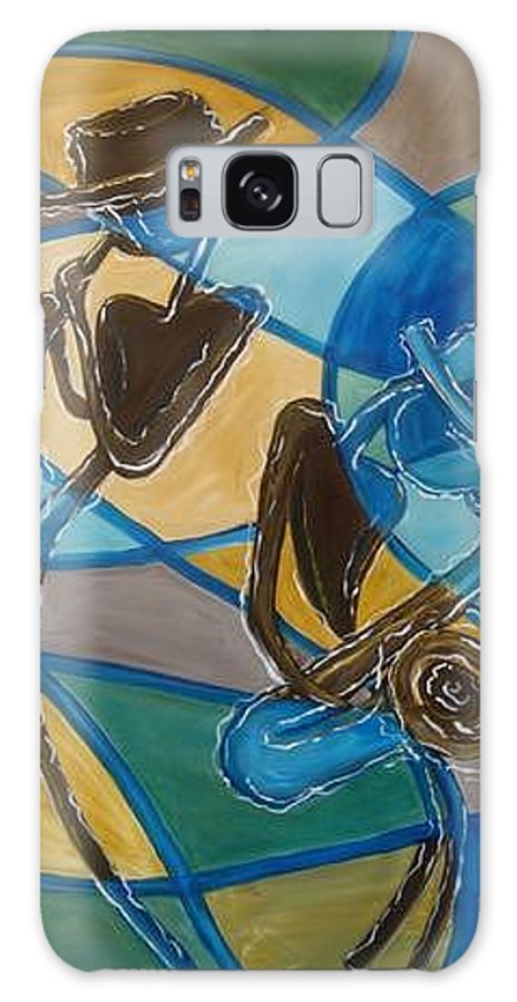 Jazz Galaxy S8 Case featuring the painting Jazz Raz by Regina Walsh