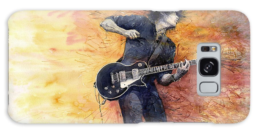 Figurativ Galaxy S8 Case featuring the painting Jazz Rock Guitarist Stone Temple Pilots by Yuriy Shevchuk