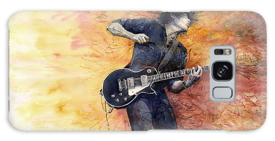 Figurativ Galaxy Case featuring the painting Jazz Rock Guitarist Stone Temple Pilots by Yuriy Shevchuk