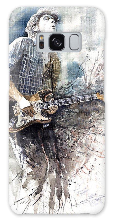 Jazz Galaxy S8 Case featuring the painting Jazz Rock John Mayer 05 by Yuriy Shevchuk