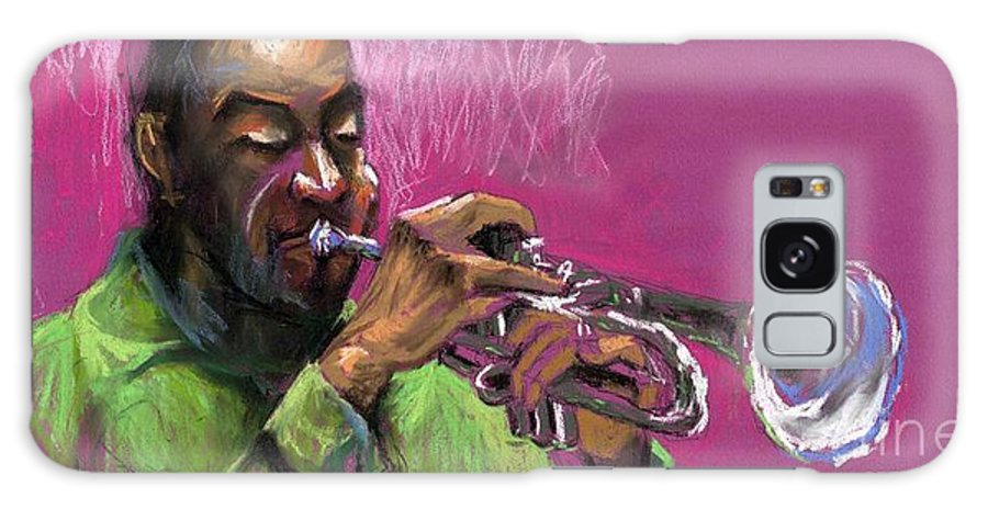 Jazz Galaxy S8 Case featuring the painting Jazz Trumpeter by Yuriy Shevchuk