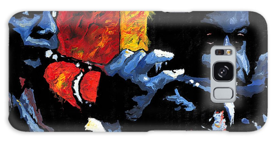Jazz Galaxy S8 Case featuring the painting Jazz Trumpeters by Yuriy Shevchuk