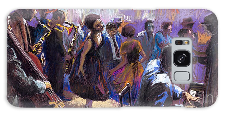 Jazz.pastel Galaxy Case featuring the painting Jazz by Yuriy Shevchuk