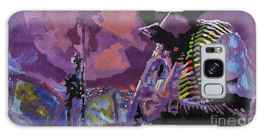 Jazz Galaxy Case featuring the painting Jazz.miles Davis.4. by Yuriy Shevchuk