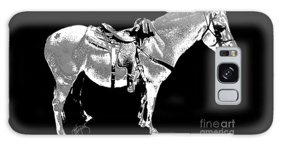 Horses Galaxy S8 Case featuring the digital art Jazzy Ride by Artepunk Art