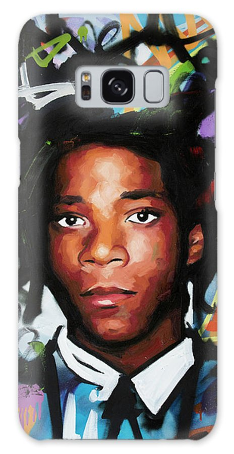 Jean Galaxy S8 Case featuring the painting Jean, Michel, Basquiat II by Richard Day