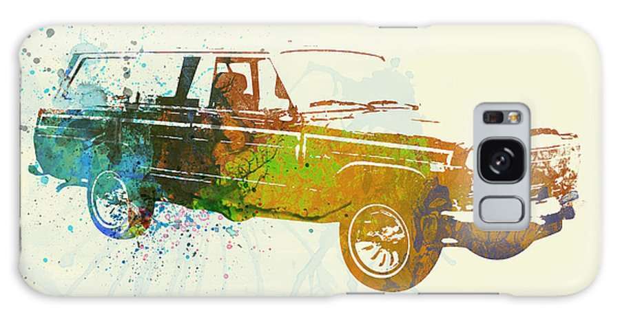 Jeep Wagoneer Galaxy S8 Case featuring the painting Jeep Wagoneer by Naxart Studio