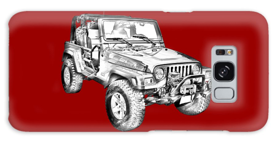Automobile Galaxy S8 Case featuring the photograph Jeep Wrangler Rubicon Illustration by Keith Webber Jr