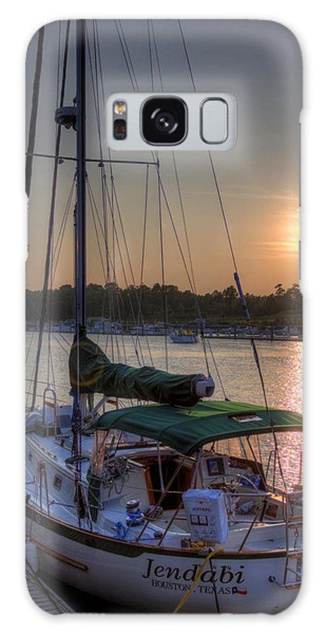 Jendabi Sailboat Sunset Dock Myrtle Beach Dustin Ryan Hdr Boat Sky South Carolina Lowcountry Galaxy S8 Case featuring the photograph Jendabi by Dustin K Ryan