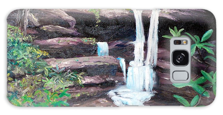 Jenny Wiley Galaxy S8 Case featuring the painting Jenny Falls by Phil Burton