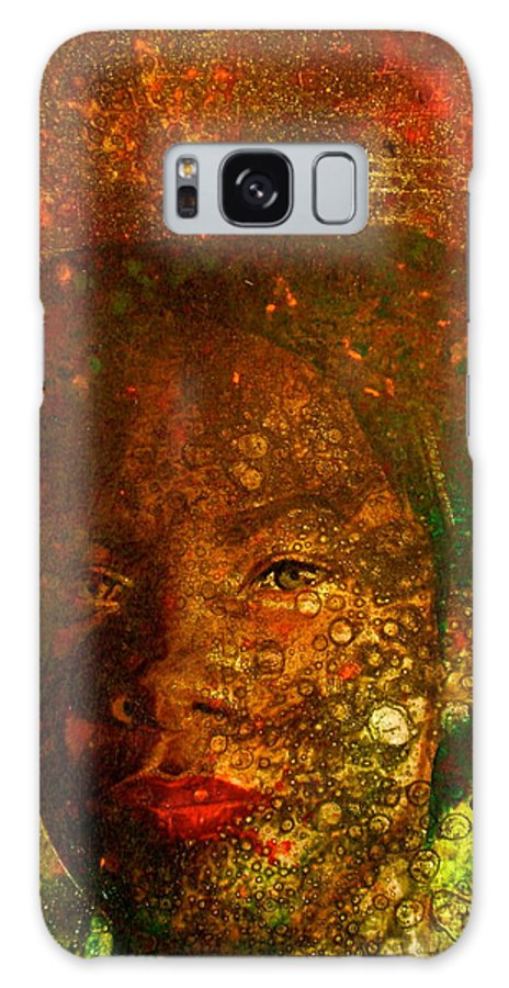 Portraiture Galaxy S8 Case featuring the painting Jeri by Laura Pierre-Louis