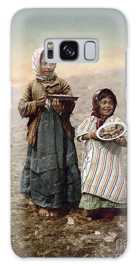 1900 Galaxy S8 Case featuring the photograph Jerusalem Girls, C1900 by Granger