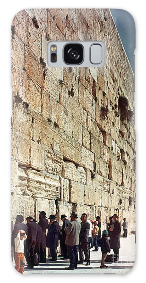 20th Century Galaxy S8 Case featuring the photograph Jerusalem Wailing Wall - To License For Professional Use Visit Granger.com by Granger