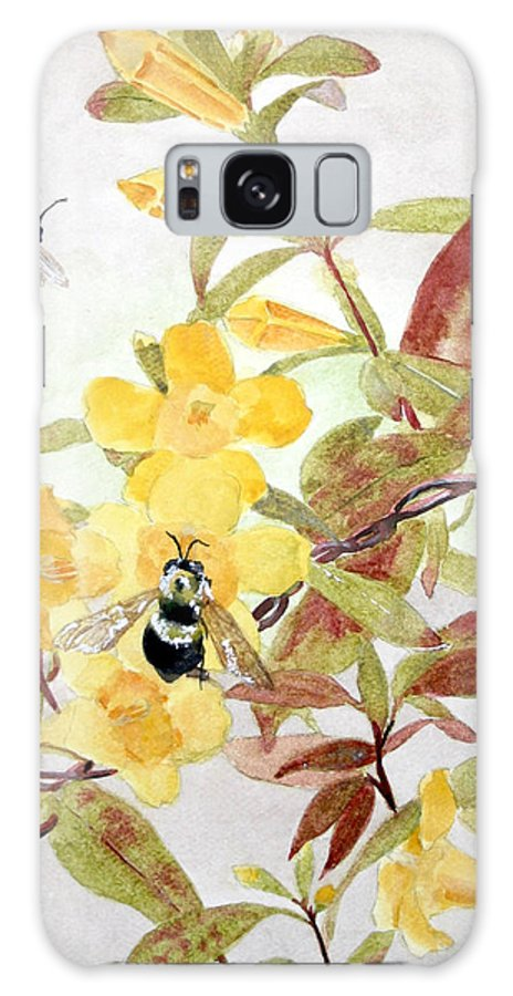 Jasmine Galaxy S8 Case featuring the painting Jessamine Bee Mine by Jean Blackmer