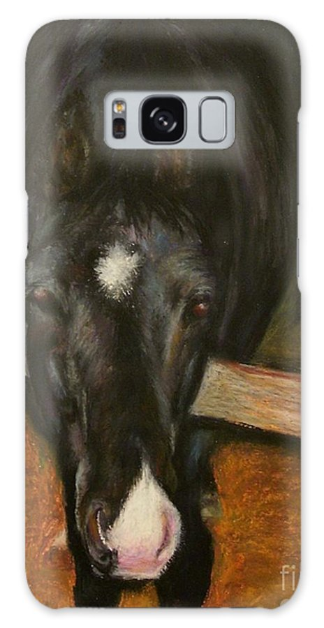 Horse Galaxy Case featuring the painting Jesse by Frances Marino
