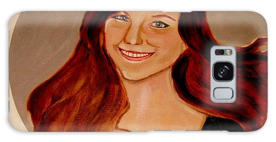 Faces Galaxy Case featuring the painting Jessica by Rusty Woodward Gladdish
