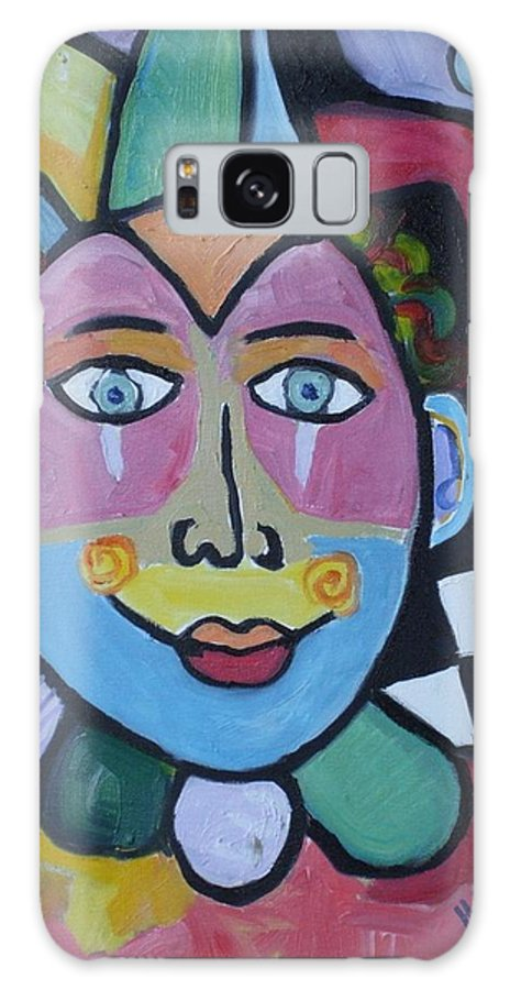 Clown Galaxy S8 Case featuring the painting Jester by H Nuurah Hakima