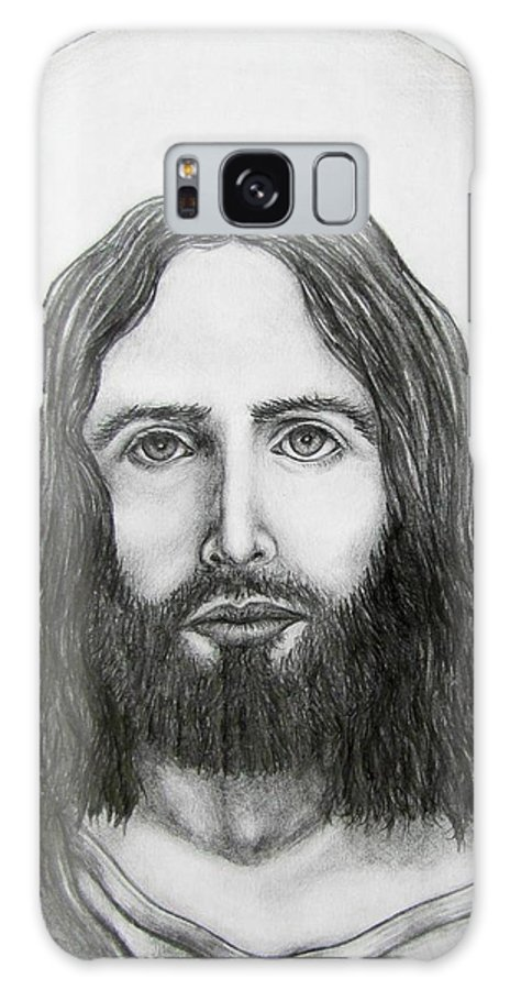 Michael Galaxy Case featuring the drawing Jesus Christ by Michael TMAD Finney