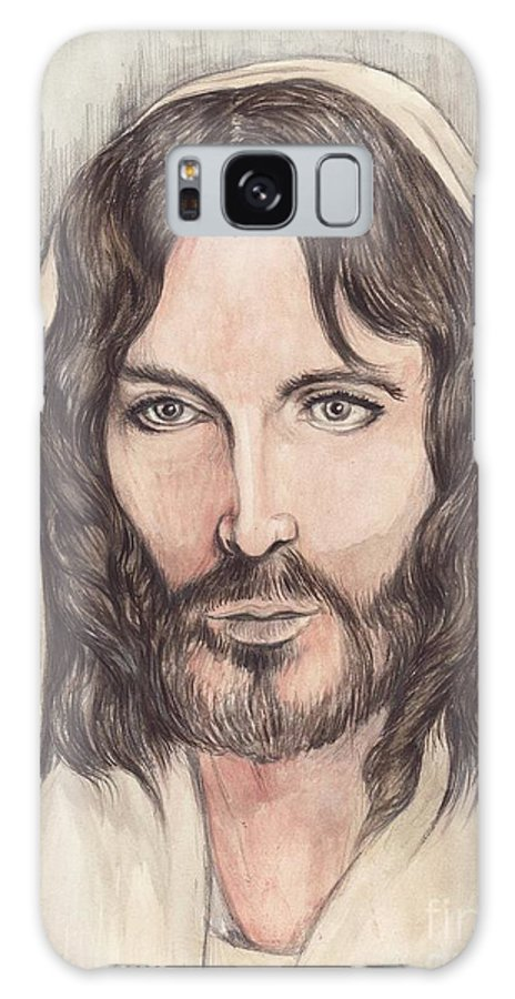 Christ Galaxy S8 Case featuring the painting Jesus Of Nazereth by Morgan Fitzsimons