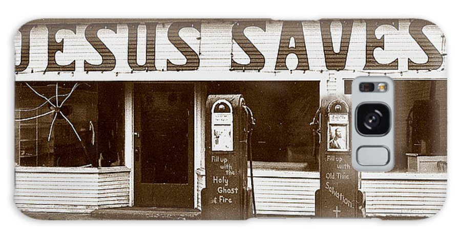 Jesus Galaxy S8 Case featuring the photograph Jesus Saves 1973 by Michael Ziegler