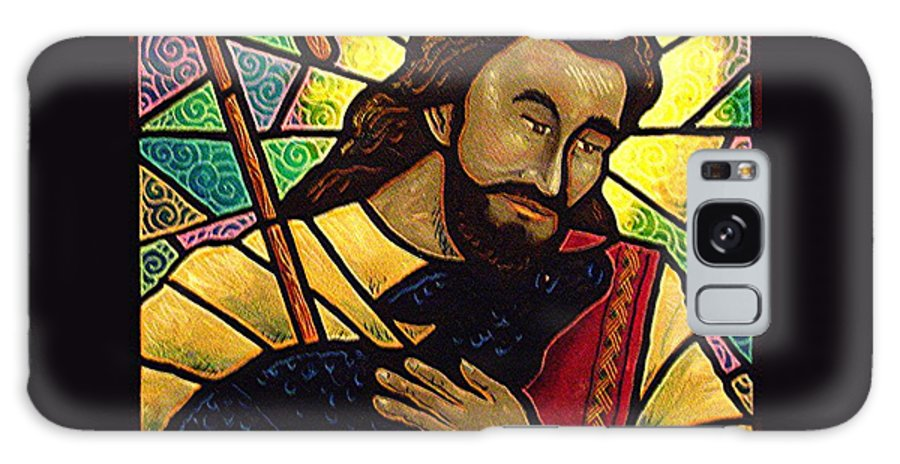 Jesus Galaxy S8 Case featuring the painting Jesus The Good Shepherd by Jim Harris
