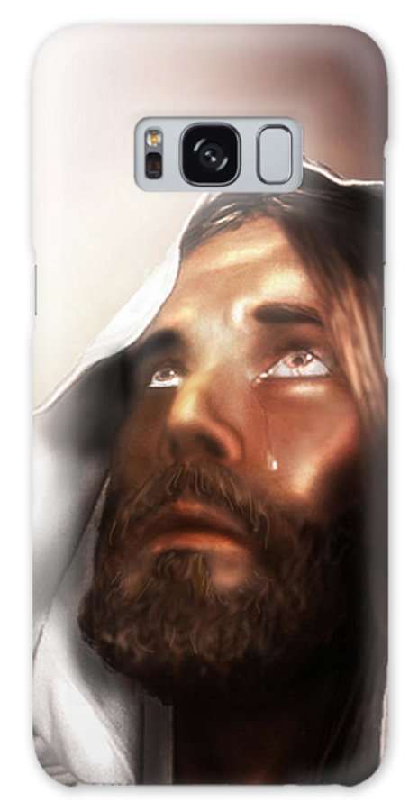 Jesus Galaxy S8 Case featuring the mixed media Jesus Wept by Mark Spears
