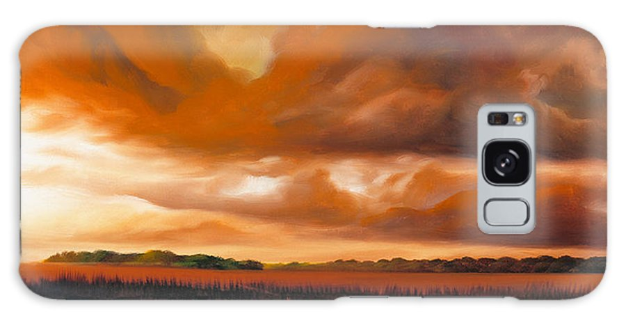 Clouds Galaxy S8 Case featuring the painting Jetties On The Shore by James Christopher Hill