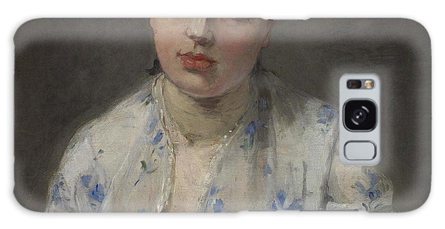 Jeune Femme By Berthe Morisot Galaxy S8 Case featuring the painting Jeune Femme by Berthe Morisot