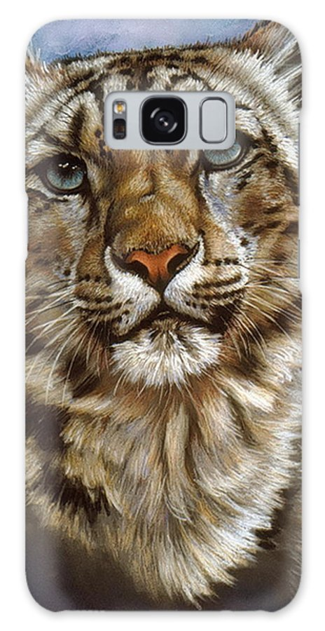 Snow Leopard Galaxy S8 Case featuring the pastel Jewel by Barbara Keith